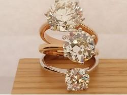 Solitarios diamantes