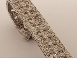 pulsera diamantes art deco